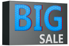3d  big sale sign. 3d  big blue sale sign on white background Stock Photo