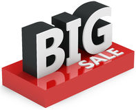 3d  big sale sign. On white background Royalty Free Stock Image