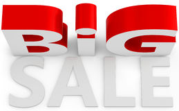 3d  big sale sign. On white background Royalty Free Stock Photos