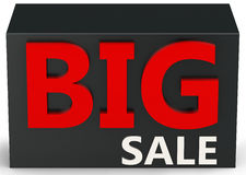 3d  big sale sign. On white background Stock Photo