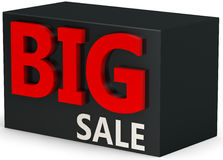 3d  big sale sign. On white background Stock Photography