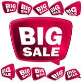 Big Sale tags. + EPS10. 3D big Sale tags. + EPS10 vector file Stock Photography