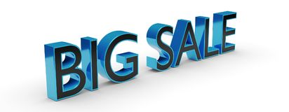 3d Big sale text with shadow. Isolated on a transparent layer in the PNG format Stock Photo