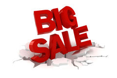 3d big sale text. On white background Stock Images