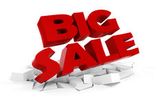 3d big sale text. On white background Stock Photo