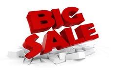 3d big sale text Stock Photo