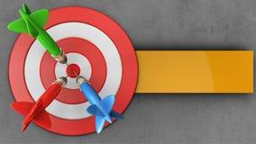 3d big taget with three darts Stock Image