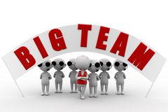 3d big team concept Royalty Free Stock Image