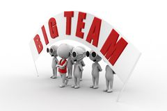 3d big team Stock Images