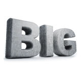 3d big word concrete Royalty Free Stock Image