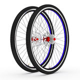 3d bike wheels. 3d wheel of the bike in the background Stock Images