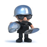 3d Biker offers silver service Royalty Free Stock Photo