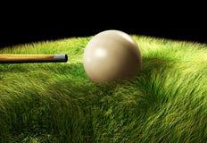 3D Bilardowa piłka na stole Obrazy Royalty Free