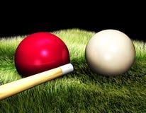3D Bilardowe piłki na stole Obraz Royalty Free