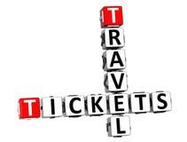 3D biletów podróży Crossword na białym tle royalty ilustracja