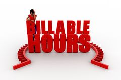 3d billable hour illustration Stock Images