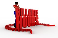 3d billable hour illustration Royalty Free Stock Photo