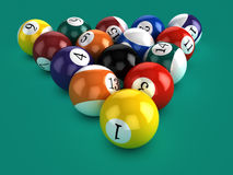3d Billiard balls Stock Photo