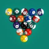 3d Billiard balls. 3d render of billiard balls ready for a break Stock Photos