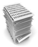 3d binarnego kodu papiery odpłacają się stertę Fotografia Royalty Free