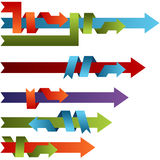 3d Binding Process. An image of 3d binding process arrows Royalty Free Stock Images