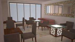 3D binnenland Royalty-vrije Stock Afbeelding