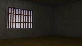 3d binnenlandse Gevangenis Stock Fotografie