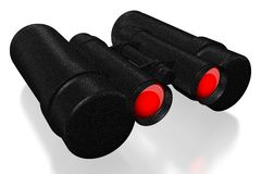 3D binoculars concept. 3D binoculars on white background - great for topics like traveling, research etc Stock Photos