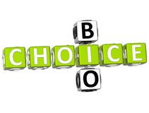 3D Bio Choice Crossword. On white background Stock Photo