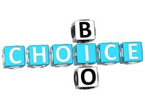 3D Bio Choice Crossword. On white background Royalty Free Stock Images