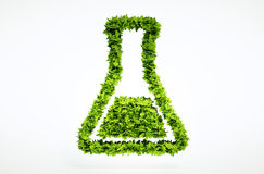 3d bio science sign. One of larger set of high quality ecology symbols. Check my ecology set Stock Image