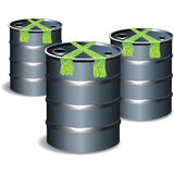 3d bio tub gas keg oil. Fuel drum tank butt dump cask steel vivid Royalty Free Stock Photography