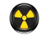 3d biohazardteken op zwarte kan deksel vector illustratie