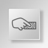 3D Biometric Reader icon Business Concept. 3D Symbol Gray Square Biometric Reader icon Business Concept Royalty Free Stock Image