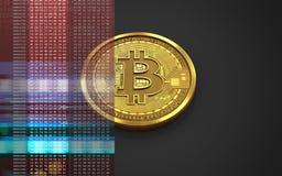 3d bitcoin空白 库存照片