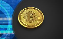3d bitcoin空白 免版税库存照片