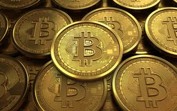 3d bitcoin空白 库存图片