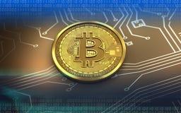 3d bitcoin空白 图库摄影