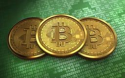 3d bitcoin堆 库存图片