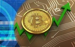 3d bitcoin Fotografia Stock