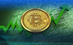 3d bitcoin Zdjęcia Royalty Free