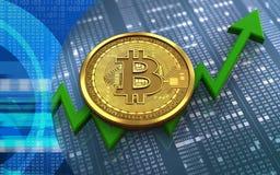 3d bitcoin 图库摄影