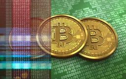 3d bitcoin堆 库存照片