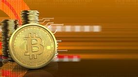 3d bitcoin Zdjęcia Stock