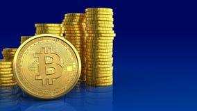 3d bitcoin Royalty-vrije Stock Foto