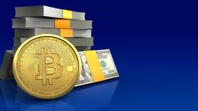 3d bitcoin Royalty-vrije Stock Afbeeldingen