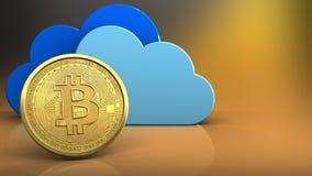 3d bitcoin Zdjęcie Stock