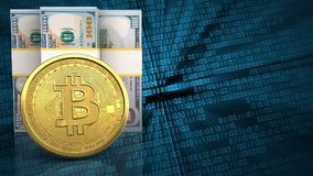 3d bitcoin Royalty-vrije Stock Foto's