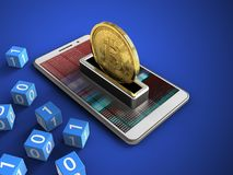 3d bitcoin 免版税库存图片