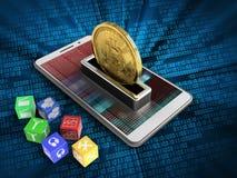 3d bitcoin Stock Afbeelding